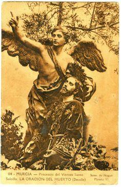 Visor Archivo General Región de Murcia. FOT_POS,06/099 / Fotografía de detalle del grupo escultórico de 'La Oración del Huerto'.c.1910