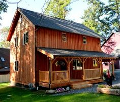 Two story house plans the house plan shop small two story cabin small 2 story cabin Shed Homes, Cabin Homes, Log Homes, Tiny Homes, Two Story House Plans, Small House Plans, Small House Kits, Tiny House Cabin, Tiny House Living