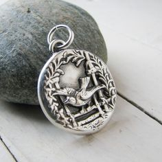 Bird Taking Flight Artisan PMC Handmade Precious by SilverWishes, $82.00