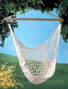 Hammock Chair Swing $24.51 from $49.95 The prefect reading chair for the deck outside for all you addictive readers like myself