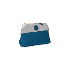 Bolide Samarcande Hermes Samarcande Bolide toiletry case (MM size) in indigo blue. 100% cotton canvas. Waterproof lining, lambskin piping