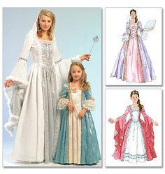 Misses'/Children's/Girls' Princess Costumes Elinor view B