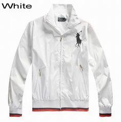 Polo Ralph Lauren Men Big Pony Peyton Windbreaker Jacket White 22a4ba02626dc