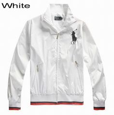 Polo Ralph Lauren Men Big Pony Peyton Windbreaker Jacket White