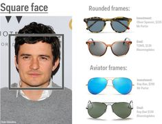 sunglasses editorial How to pick the right sunglasses - Business Insider Round Sunglasses, Mirrored Sunglasses, Square Faces, Orlando Bloom, Mens Fashion Shoes, Ray Bans, Just For You, Clutter Organization, Bedroom Organization