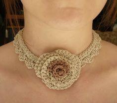 crochet choker necklace pattern - Google Search