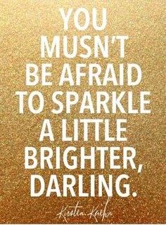 We hope everyone is sparkling today!