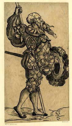 Landsknecht by Christoph Amberger, ca. 1525-1530