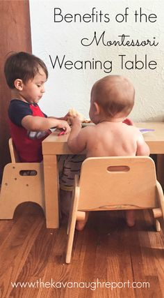 Weaning Table And Chair To Be Used As Soon As Baby Is Able