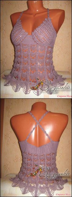50+ Quick & Easy Crochet Summer Tops - Free Patterns - Page 3 of 9 - DIY & Crafts