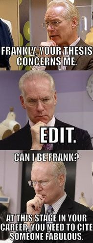 Proof that Tim Gunn is an English professor.