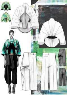 Fashion design sketchbook - a great example of creating a fashion moodboard in a fashion sketchbook for a fashion collection! Fashion design sketchbook - a great example of creating a fashion moodboard in a fashion sketchbook for a fashion collection! Portfolio Design, Mode Portfolio Layout, Fashion Portfolio Layout, Portfolio Ideas, Fashion Design Portfolios, Illustration Mode, Fashion Illustration Sketches, Fashion Design Sketches, Design Illustrations