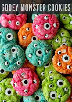 halloween - gooey monster cookies