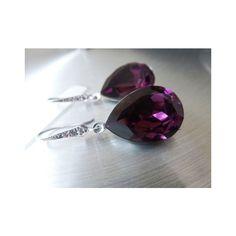 Amethyst Bridal Earrings Purple Teardrop Bride Earring Plum Wedding... ❤ liked on Polyvore featuring jewelry, earrings, wedding jewelry, bridal jewelry earrings, bridal teardrop earrings, bridal jewellery and amethyst jewelry