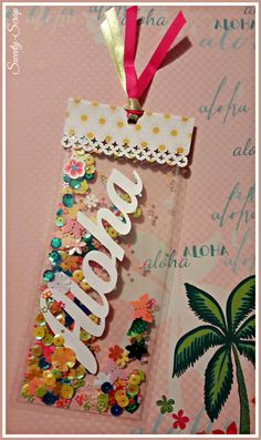 "Marque-Pages Shaker ""ALOHA"", Signet Tropical, Bookmark : Marque-pages par sweety-scrap"