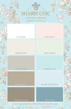 The ultimate shabby chic color palette.