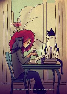 Cats, Books, Coffee and Writing