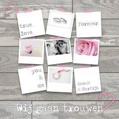 Trouwkaart You & Me - Trouwkaarten - Kaartje2go Kim Illustrator