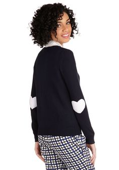 We're Young at Heart Cardigan in Navy, #ModCloth