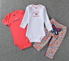 c425c1f6ac3 Baby clothes 3pcs toddler romper original newborn baby bodysuit girls  designer clothes boys clothing sets cotton