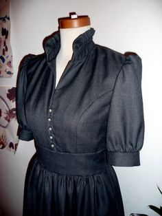 Black dress from Etsy.  I love the collar on this one.