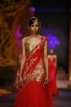 Fashion designer Gaurav Gupta Collection @ India Bridal Fashion week 2013.
