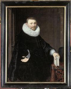 Portrait d'homme, dit jadis Portrait de Vrydags Van Vollenhoven fils (vers 1620) Auteur : Van Ravesteyn Jan Anthonisz (1570/1572-1657)