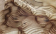 WLE is a generative processing based work series, realized usinglaser engraving tech into plywood. Primal Craft, Design Elements, Design Art, Art For Art Sake, Patterns In Nature, Wood Engraving, Abstract Shapes, Design Quotes, Abstract Landscape