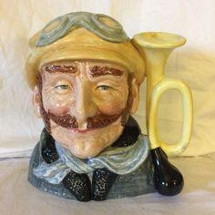 Royal Doulton Large Toby Mug Character Jug The Veteran Motorist #D633 1972 #RoyalDoulton
