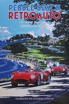 Retroauto Pebble Beach 2014 - Illustration de Tim Layzell.