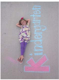 First Day of School Photo Ideas---I like it!