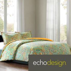 Embrace the world of color with the Echo Beacon's Paisley Bedding Collection. A bright, fresh color palette plays up the intricate paisley, medallion and Aztec patterns to give your bedroom a whole new look. Echo Bedding, Paisley Bedding, Twin Comforter, Queen Comforter Sets, Bedding Sets, Moroccan Bedroom, Bed Spreads, Duvet Cover Sets, Luxury Bedding
