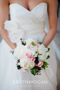Gorgeous Peony Bridal Bouquet by the Enchanted Florist, Photo by Kristyn Hogan of Nashville