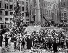 The first Rockefeller Centre Christmas tree, (New York City, 1931).