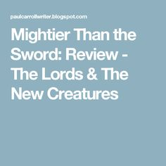Mightier Than the Sword: Review - The Lords & The New Creatures Jim Morrison, Sword, Poetry, Creatures, Poetry Books, Poem, Swords, Poems