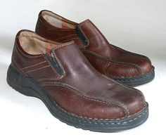 Clark's Mens Leather Shoes Easy Slip On Loafer Size 8M  0705 #Clarks #LoafersSlipOns