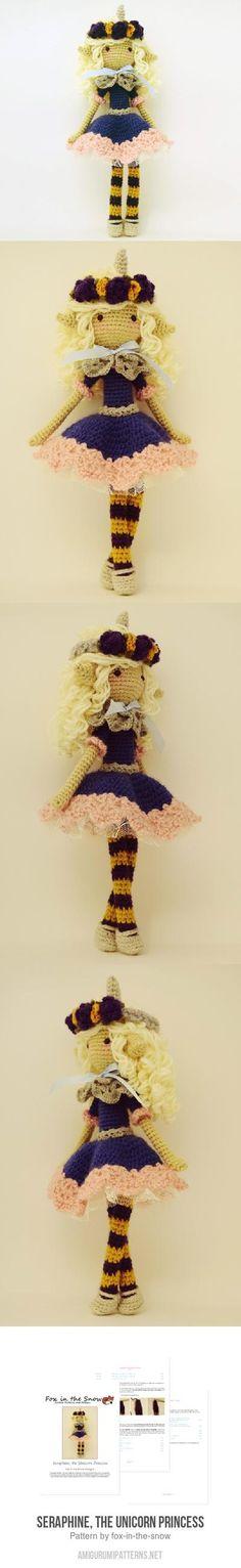 Seraphine, The Unicorn Princess Amigurumi Pattern
