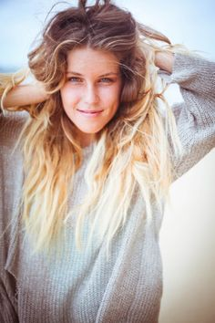Inspiration- Ombre Hair Colors  Looks like she just walked off the beach with this look!