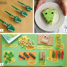 Planning an alligator party? Here are some fun finds, plus a whole lot of ideas that will make planning the menu a breeze! 1. These felt alligator clothespins (sold by bakkal on Etsy) could be part of the decor or given as favors. Or, you ...