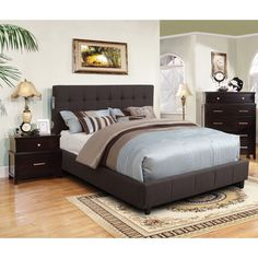 Furniture of America Behati 2-piece Bluetooth Grey Bed with Nightstand Set - Overstock™ Shopping - Big Discounts on Furniture of America Bedroom Sets