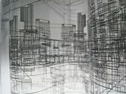 Architectural Drawing Ideas Heather Tribe - Acetate printed with my drawings curled inside an acrylic model. Layer up architecture drawings with acrylic Layered Architecture, Architecture Drawings, Building Drawing, Building Art, Art Alevel, Arch Model, A Level Art, Built Environment, Installation Art