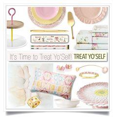 """It's Time to Treat Yo'Self!"" by ewa-naukowicz-wojcik ❤ liked on Polyvore featuring White Label, Julia Knight, Jacquie Aiche, Sophie Bille Brahe, Jansen+Co, Bitossi, Allurez, Chanel, Cavallini and Juliska"