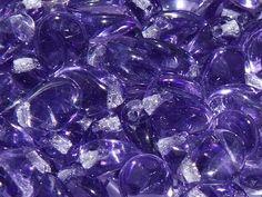 Preciosa® Traditional Czech Glass Pip Beads Tanzanite from Nosek's Just Gems