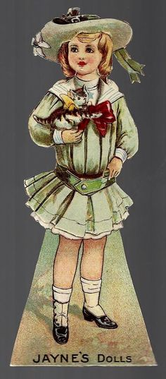 Dr Jayne's Tonic Vermifuge Late 1800's Medicine Paper Doll Trade Card A | eBay