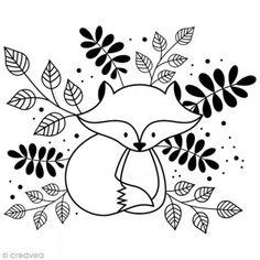 Tampon Bois Artemio - Renard feuille - 4 x 3,1 cm - Photo n°1