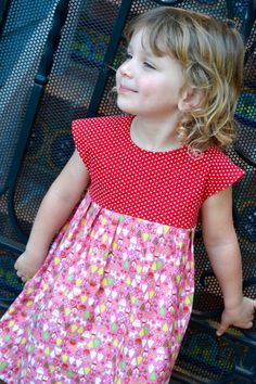 READY TO SHIP Size 3T Christmas dress for girls by TheModSewer