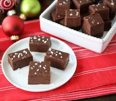 Chocolate Nutella & Sea Salt Fudge (I know it's not a cookie, but I don't get to win the prize at Mom's cookie exchange.)