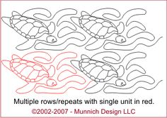 Munnich Design - Quilt Recipes: Digital Quilting Pattern - Browse All Patterns Quilting Stitch Patterns, Machine Quilting Patterns, Longarm Quilting, Free Motion Quilting, Quilting Tips, Quilting Designs, Quilt Patterns, Turtle Quilt, Quilt As You Go