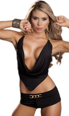 Exotic Stripper Clothing - Black 2 Piece Set Buy: $29.99