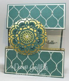 Eastern Palace Peek-a-Boo card , Tranquil Tide card stock, Eastern Beauty stamp set , Stampin' Up! , Dawn Griffith